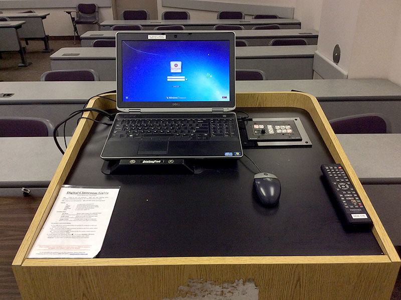 Podium with Instructor Laptop