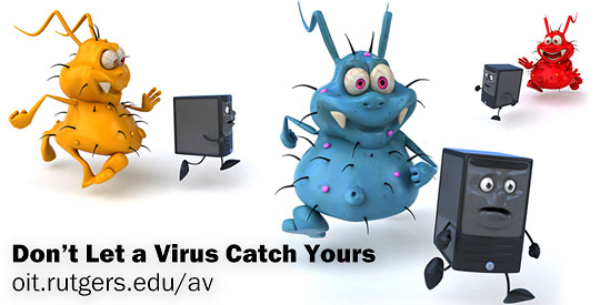 Keep your computer safe. Learn about free antivirus software for Rutgers students and employees.