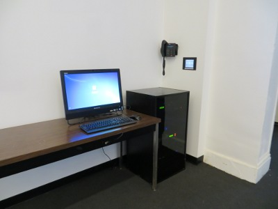 Instructor PC, Phone, Control Touch Screen and AV Rack